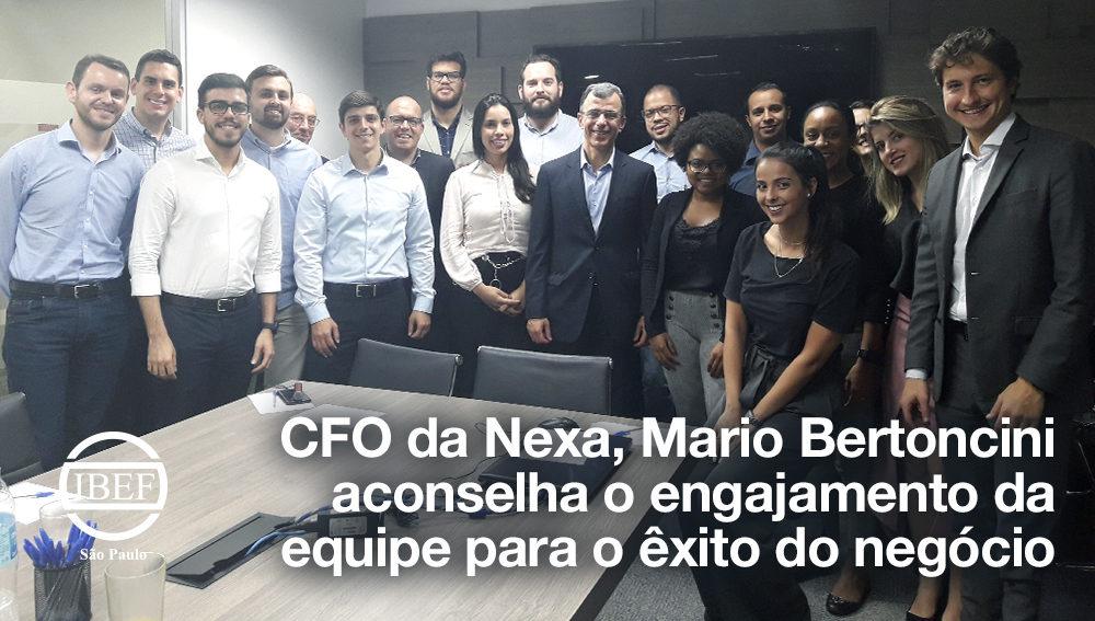 CFO da Nexa, Mario Bertoncini aconselha o engajamento da equipe para o êxito do negócio