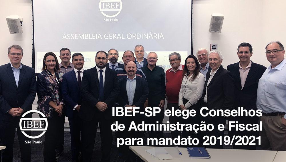 IBEF-SP elege Conselhos de Administração e Fiscal para mandato 2019/2021