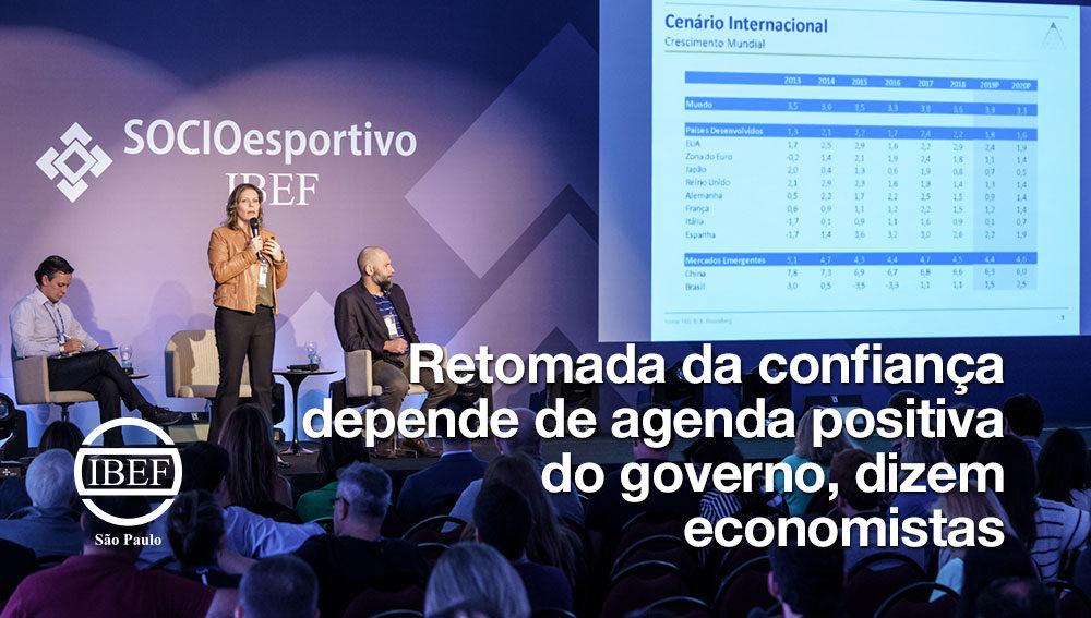 Retomada da confiança depende de agenda positiva do governo, dizem economistas