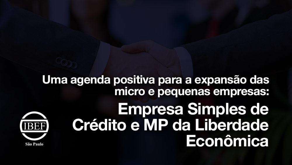 Uma agenda positiva para a expansão das micro e pequenas empresas: Empresa Simples de Crédito e MP da Liberdade Econômica
