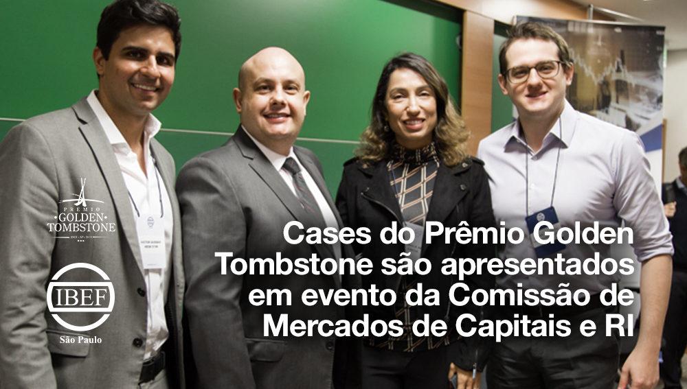 Cases do Prêmio Golden Tombstone são apresentados em evento da CT de Mercados de Capitais e RI