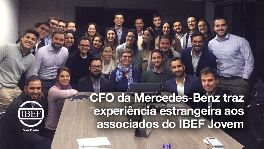 CFO da Mercedes-Benz traz experiência estrangeira aos associados do IBEF Jovem